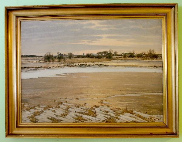 Vinteroversvømmet eng. 1922. Maleri nr. 8. Se: http://thorvaldlarsenselskabet.dk/?page_id=513