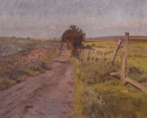 Mosevejen (nuværende stirute til Smørum). 1946. Maleri nr. 48.