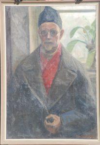 Thorvald Larsen, malet af hans søn Poul Larsen.. 1945. Maleri nr. 100.