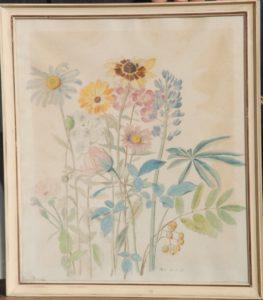 Akvarel. udkast til broderi, til Clara Wæver. 1928. Maleri nr. 102.