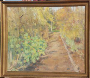 Haven på Kildebakken. 1938. Maleri nr. 107.