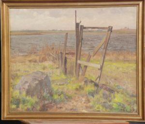 Løje Sø, set fra østsiden. 1938. Maleri nr. 15.