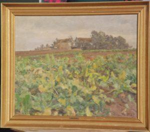 Formentlig gårdene på Kastholm, set fra nordvest. Maleri nr. 2