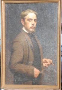 Selvportræt 1909. Maleri nr. 24