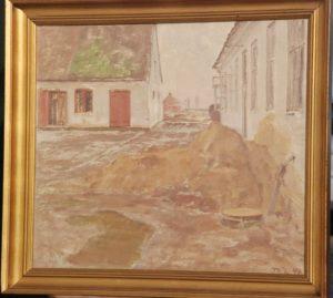 Brøndstedgård i den vestlige del af Veksø. 1946. Maleri nr. 4.