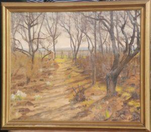 Haven på Kildebakken. 1932. Maleri nr. 49.