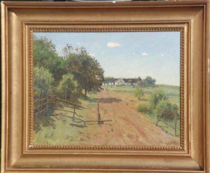 Klodgården sydøst for Stenløse, set fra øst. 1917. Maleri nr. 51.