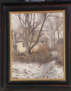 Huset på Liljevangsvej 15 syd for kirken. 1917. Maleri nr. 54