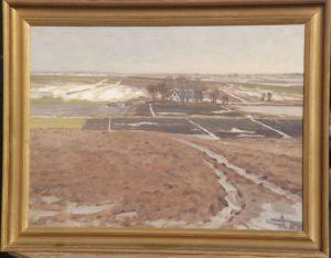 Kig fra Hovevejen østpå hen over den nordlige del af den udtørrede Præstesø