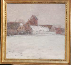 Brydegård i Måløv. 1912. Maleri nr. 79.