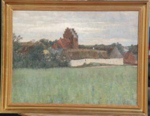 Brydegård i Måløv. 1913. Maleri nr. 80.