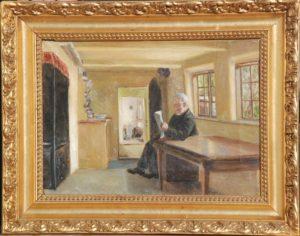 Personen er Thorvald Larsens morfar. Ukendt år. Maleri nr. 84.