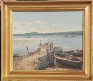 Roskilde fjord ved Frederikssund. 1927. maleri nr. 91.