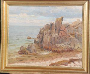 Kystklipper ved Kullen. 1934. Maleri nr. 92