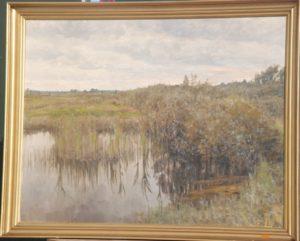 Tørvegrav fra 1. verdenskrig, måske ved Egedal. 1931. Maleri nr. 95.