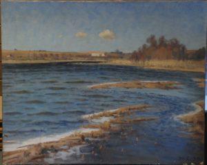 Nordenden af Løje Sø med Maglehøj i baggrunden. 1939..