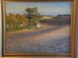 Gården Skelhøj, set fra Hovevejen mod sydøst. 1922. Maleri nr. 40.