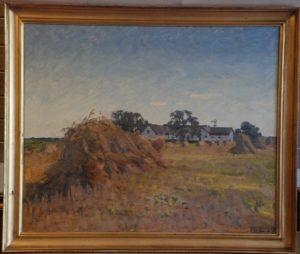 Kornmark foran Vasehøjgård. 1927. Maleri nr. 148