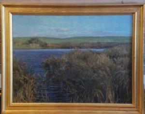 Mindre sø, formentlig nær Måløv, måske Balsmosen? 1913.