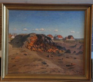 Roekule ved sydkanten af Veksø. 1934. Maleri nr 150