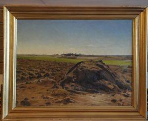 Roekule ved Kildebakken, kig mod syd mod Hove Lund. 1922. Maleri nr. 29
