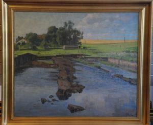 Nye tørvegrave i Brøns Mose øst for Maglehøj. 194?