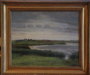 Sydenden af Løje Sø, nær Værebro Ås udløb, kig mod vest. 1915 (!)