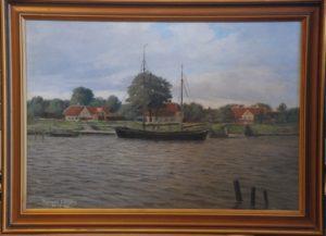 Havnemotiv, muligvis Kerteminde. 1909.