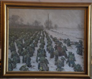 Grønkålsmark, måske ved Jægerbakken? 1935.