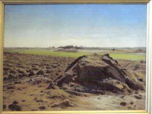 Hove Lund m.m. set nordfra, fra Løjesøvej. 1925. Maleri nr. 29.