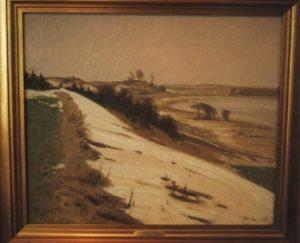 Løje Søs østbred, set fra nord mod syd. 1919.