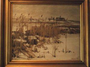Løje Søs sydende, med kig mod Kastholm. 1931?