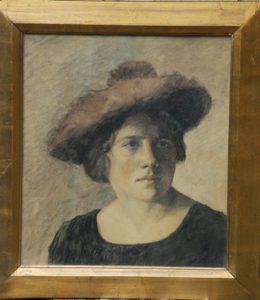 Pastel af Helga Maria Gregaard, der indtil 1923 var gift med teaterdirektør Poul Gregaard.