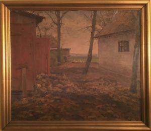 Bag Brøndstedård.1943. maleri nr. 194