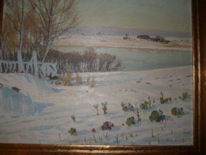 Løje Søs nordende, kig fra Jægerbakken mod Egedal. 1923.