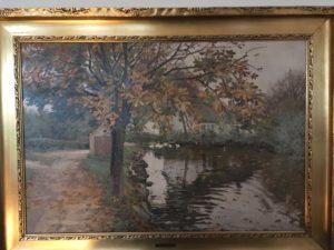 Gadekæret (over for Veksølund). 1918. Maleri nr. 188