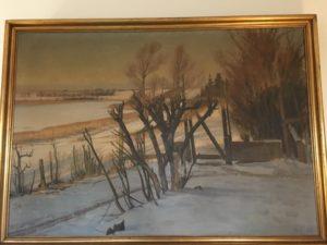 Kig fra Kildebakken op langs østsiden af Løje Sø. 1933.