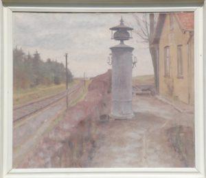 Ledvogterhuset ved Egedal, med meldeklokke. Maleri nr. 182. Ukendt årstal