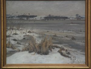 Fuglesø set fra sydsiden. 1937. Maleri nr. 249