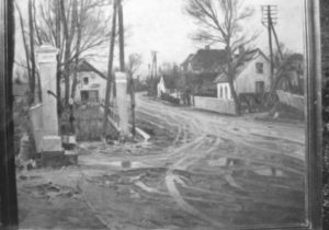 Veksø bymidte, set mod vest. 1935. Maleri nr. 253