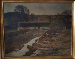 Poppelvej 9 i kanten af Fuglesødalen. 1923.  Maleri nr. 265